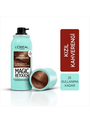 L'Oréal Paris L'OREAL PARİS MAGIC RETOUCH KIZIL KAHVERENGI Kahve